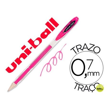 BOLIGRAFO UNI-BALL ROLLER UM-120 SIGNO 0,7 MM TINTA GEL COLOR ROSA
