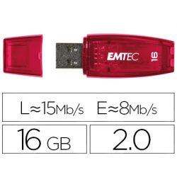 MEMORIA USB EMTEC FLASH C410 16 GB 2.0 NARANJA