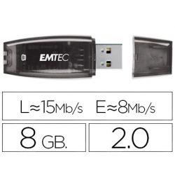 MEMORIA USB EMTEC FLASH C410 8 GB 2.0 NEGRO