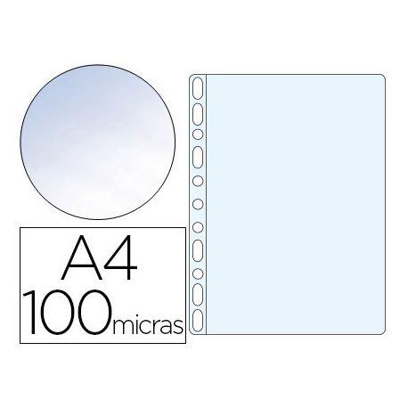 FUNDA MULTITALADRO Q-CONNECT DIN A4 100 MC CRISTAL