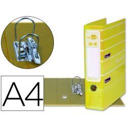 ARCHIVADOR DE PALANCA LIDERPAPEL A4 FILING SYSTEM FORRADO CON RADO LOMO 75MM AMARILLO COMPRESOR META