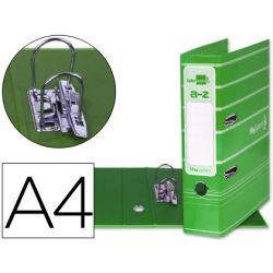 ARCHIVADOR DE PALANCA LIDERPAPEL A4 FILING SYSTEM FORRADO CON RADO LOMO 75MM VERDE COMPRESOR METALIC