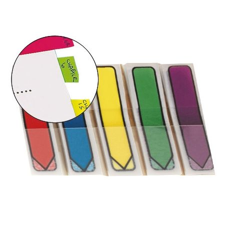 BANDERITAS SEPARADORAS FLECHASDISPENSADOR COLORES BRILLANTESPOST-IT INDEX 684ARR1 100 BANDERITAS