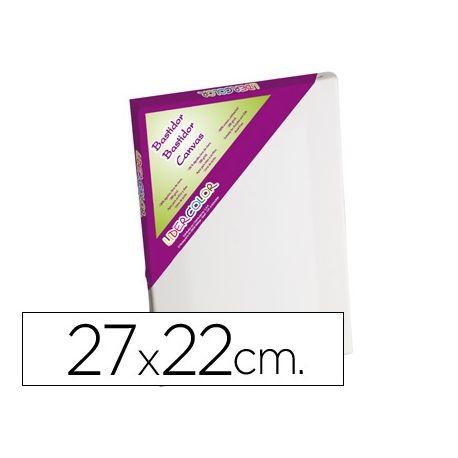 BASTIDOR LIDERCOLOR 3F LIENZO GRAPADO LATERAL ALGODON 100% MARCO PAWLONIA 1,8X3,8 CM BORDES MADERA 2