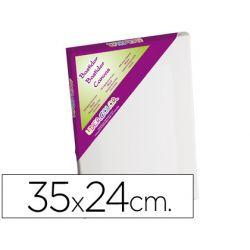 BASTIDOR LIDERCOLOR 5P LIENZO ALGODON 100% MARCO PAWLONIA 1,8X3,8 CM BORDES MADERA 35X24 CM