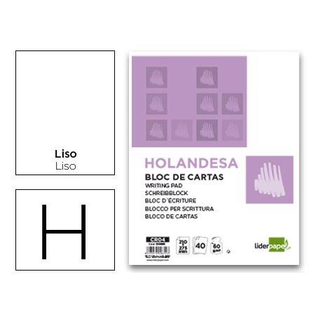 BLOC CARTAS LIDERPAPEL HOLANDESA LISO