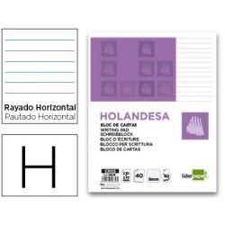 BLOC CARTAS LIDERPAPEL HOLANDESA RAYADO