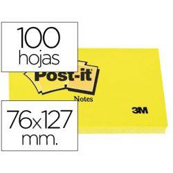 BLOC DE NOTAS ADHESIVAS QUITA Y PON POST-IT 76X127 MM CON 100 HOJAS 655