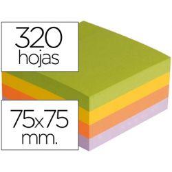 BLOC DE NOTAS ADHESIVAS QUITA Y PON Q-CONNECT CON 320 HOJAS