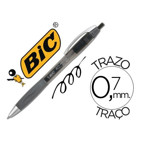 BOLIGRAFO BIC ATLANTIS NEGRO RETRACTIL TINTA GEL PUNTA 1 MM