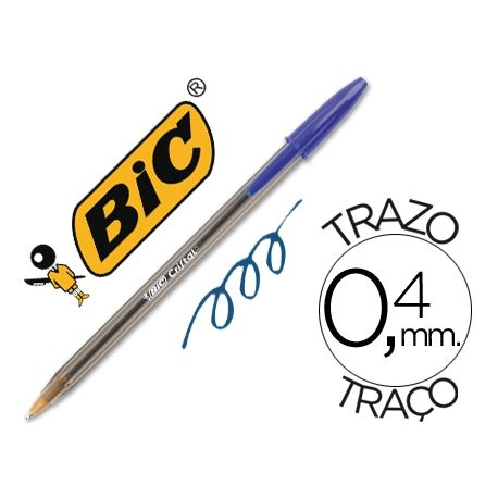 BOLIGRAFO BIC CRISTAL AZUL -UNIDAD