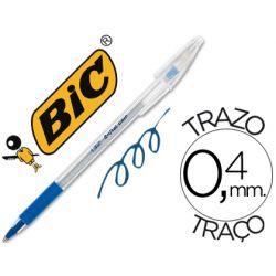 BOLIGRAFO BIC CRISTAL GRIP AZUL