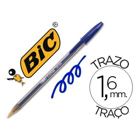 BOLIGRAFO BIC CRISTAL X-LARGE TINTA AZUL 1,6 MM