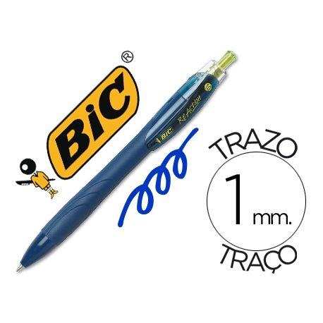 BOLIGRAFO BIC REACTION ECOLOGICO AZUL -RETRATIL TINTA DE ACEITE