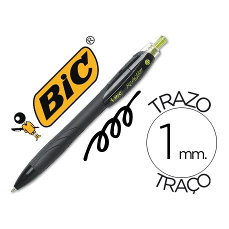 BOLIGRAFO BIC REACTION ECOLOGICO NEGRO -RETRATIL TINTA DE ACEITE