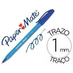 BOLIGRAFO PAPER MATE INKJOY 100 PUNTA MEDIA TRAZO 1MM AZUL