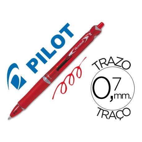 BOLIGRAFO PILOT ACROBALL ROJO TINTA ACEITE PUNTA DE BOLA DE 1,0MM RETRACTIL