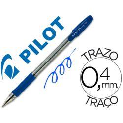 BOLIGRAFO PILOT BPS-GP AZUL -SUJECION DE CAUCHO -TINTA BASE DE ACEITE -CON CAPUCHON