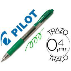 BOLIGRAFO PILOT G-2 VERDE TINTA GEL -RETRACTIL -SUJECION DE CAUCHO