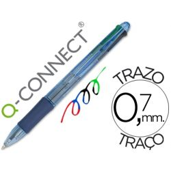 BOLIGRAFO Q-CONNECT 4 EN 1 TINTA 4 COLORES RETRACTIL -CON SUJECION DE CAUCHO