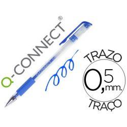 BOLIGRAFO Q-CONNECT TINTA GEL AZUL 0.7 MM SUJECION DE CAUCHO