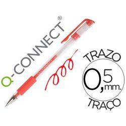 BOLIGRAFO Q-CONNECT TINTA GEL ROJO 0.7 MM SUJECION DE CAUCHO