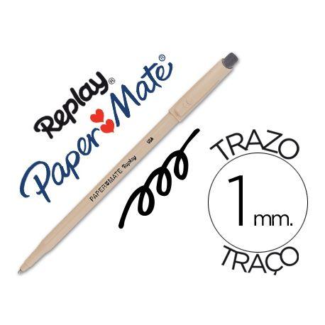 BOLIGRAFO REPLAY III NEGRO CON GOMA DE BORRAR