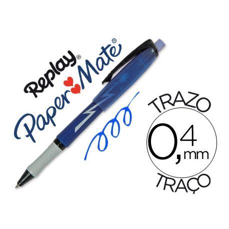 BOLIGRAFO REPLAY MAX AZUL CON GOMA DE BORRAR