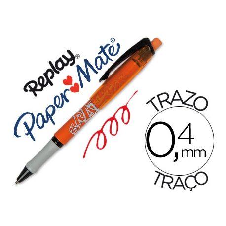 BOLIGRAFO REPLAY MAX ROJO CON GOMA DE BORRAR