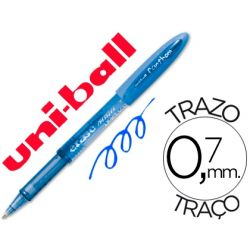 BOLIGRAFO UNI-BALL UF-202 FANTHOM BORRABLE 0,7 MM TINTA GEL AZUL