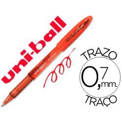 BOLIGRAFO UNI-BALL UF-202 FANTHOM BORRABLE 0,7 MM TINTA GEL ROJO