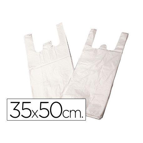 BOLSA PLASTICO CAMISETA 35X50 CM -PAQUETE 200