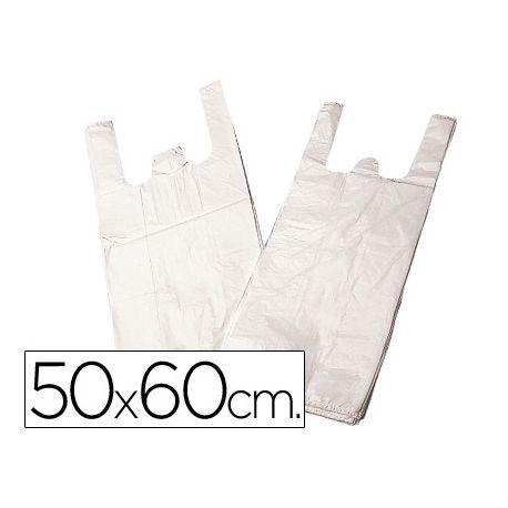 BOLSA PLASTICO CAMISETA 50X60 CM -PAQUETE 200