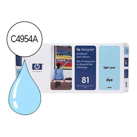 CABEZAL HP N.81 CIAN CLARO CON LIMPIADOR DE CABEZAL DESIGNJET 5000/5500
