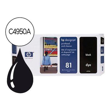 CABEZAL HP N.81 NEGRO CON LIMPIADOR DE CABEZAL DESIGNJET 5000/5500
