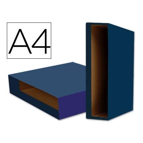 CAJA ARCHIVADOR LIDERPAPEL COLOR SYSTEM A4 AZUL