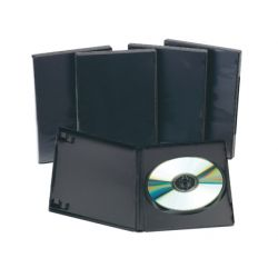 CAJA DVD Q-CONNECT -CON INTERIOR NEGRO -PACK DE 5 UNIDADES