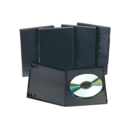 CAJA DVD Q-CONNECT -CON INTERIOR NEGRO -PACK DE 5 UNIDADES