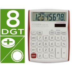 CALCULADORA CITIZEN CDC-80 SOBREMESA 8 DIGITOS VIVID ROJOS
