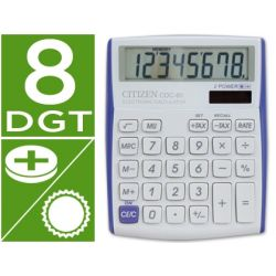 CALCULADORA CITIZEN CDC-80 SOBREMESA 8 DIGITOS VIVID VIOLETA