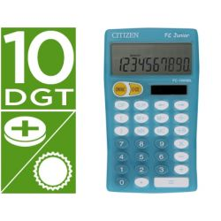 CALCULADORA CITIZEN BOLSILLO FC-100 10 DIGITOS CELESTE JUNIOR PEDAGOGICA