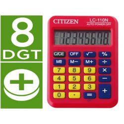 CALCULADORA CITIZEN BOLSILLO LC-110 8 DIGITOS ROJA