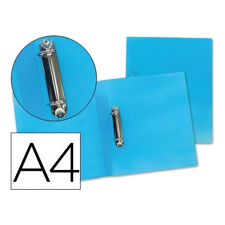 CARPETA BEAUTONE 2 ANILLAS MIXTAS 25 MM 43472 POLIPROPILENO DIN A4 AZUL -SERIE FROSTY