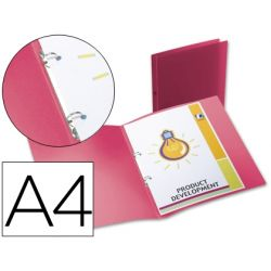 CARPETA LIDERPAPEL 2 ANILLAS REDONDAS MINI 15 MM 49070 POLIPROPILENO DIN A4 ROJA