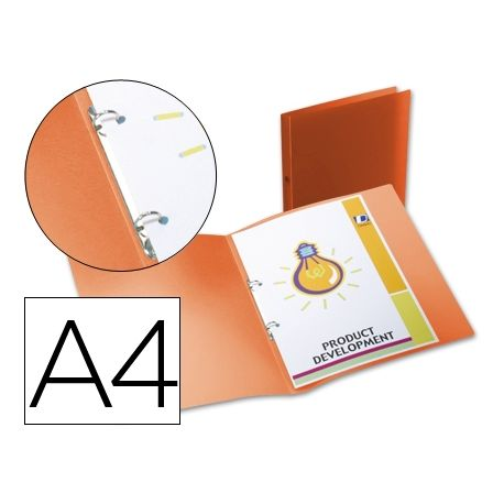 CARPETA BEAUTONE 2 ANILLAS REDONDAS MINI 15 MM 49071 POLIPROPILENO DIN A4 NARANJA