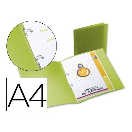 CARPETA BEAUTONE 2 ANILLAS REDONDAS MINI 15 MM 49073 POLIPROPILENO DIN A4 VERDE