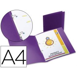 CARPETA BEAUTONE 2 ANILLAS REDONDAS MINI 15 MM 49076 POLIPROPILENO DIN A4 VIOLETA