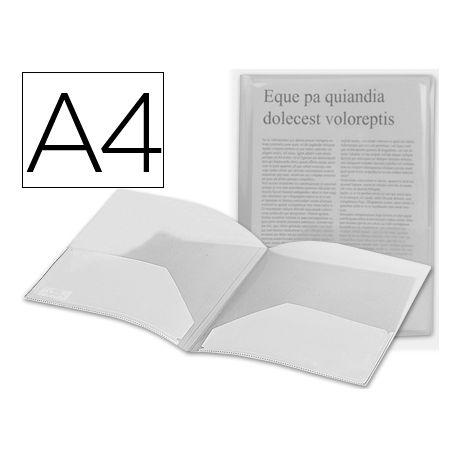 CARPETA BEAUTONE DOSSIER DOS BOLSAS 35584 POLIPROPILENODIN A4 INCOLORA