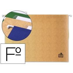CARPETA COLGANTE LIDERPAPEL FOLIO KRAFT