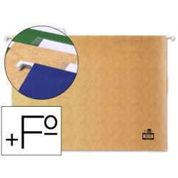 CARPETA COLGANTE LIDERPAPEL FOLIO PROLONGADO KRAFT